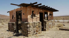 Ghost Town in the Desert Stock Footage