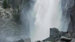 Yosemite Falls Close Up - stock footage