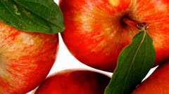 Red pear and green apple with half Stock Footage