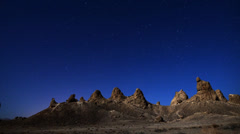 Stock Video Footage of Astro Time Lapse and Hoodoos (Trona Pinnacles)