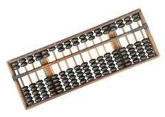 vintage abacus - stock photo