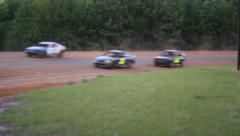 Stock Cars Drive On Track Stock Footage