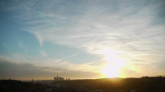 Downtown LA Skyline Sunset Time Lapse - stock footage