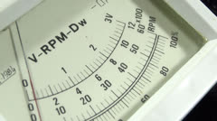 Old voltmeter in use Stock Footage