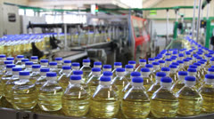 Sunflower Oil in Food Industry Stock Footage