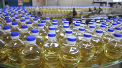 Production of Sunflower Oil - stock footage