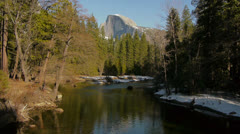 Half Dome in Yosemite National Park Stock Footage