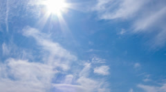 Light of the sun breaks through the clouds Stock Footage