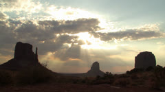 Monument Valley Time Lapse Stock Footage