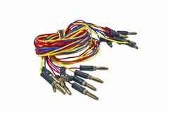 Colorful electrical wires Stock Photos