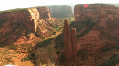 Spider Rock at Sunset Time Lapse Stock Footage