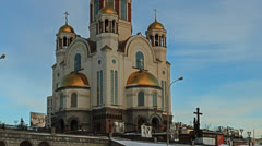 Church on Blood in Honor of All Saints Resplendent in the Russian Land Stock Footage