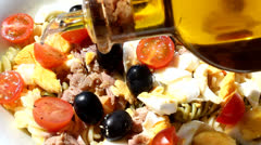 Pasta salad - stock footage