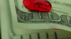 Blood money 1 Stock Footage