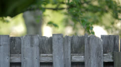 Top of Broken Fence Stock Footage