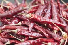 dry red pepper - stock photo