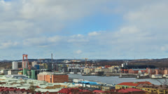 Clouds over the city. Gothenburg, Sweden Stock Footage