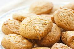 Almond cookies Stock Photos