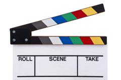 Color clapperboard Stock Photos