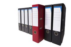 Outstanding red ringbinder Stock Photos
