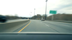 Driving on a Highway - Time lapse - stock footage