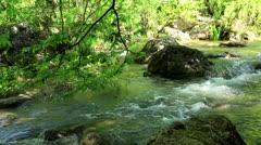 Waterfall, Grand Canyon of Crimea Stock Footage