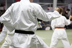 Karate kata Stock Photos