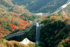 the greatwall of china - stock photo