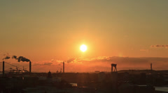 Sunset over the city. Gothenburg, Sweden Stock Footage