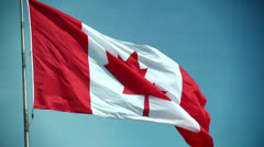 Canadian flag - Slow Motion Stock Footage