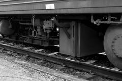 Wheel of a train Stock Photos