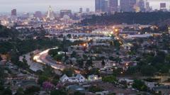 Downtown LA Skyline Time Lapse Stock Footage