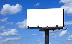 billboard with background cloudy sky - stock photo