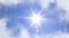 Clouds and Sun - stock footage