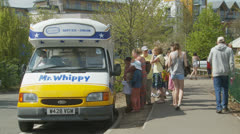 Mr Whippy ice cream van Stock Footage