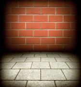 old brick texture - stock photo