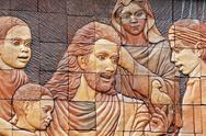 Stock Photo of christ the sculpture stone carving.