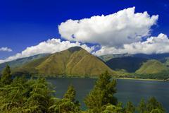 view to sihotang. - stock photo