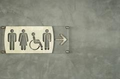 Sign to toilet in thailand Stock Photos