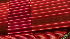 angled red neon wall loop - stock footage