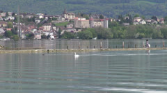 Neuchatel Lake, Switzerland Stock Footage