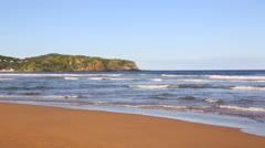 Geriba Beach Panorama (1920x1080).mp4 Stock Footage