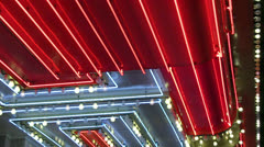 Close up of neon and chasing lights Stock Footage