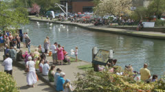 Bank holiday Monday, Newbury (3) UK Stock Footage