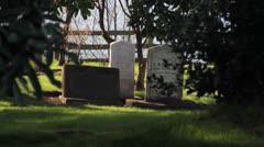 Three Tombstones Stock Footage