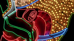 Colorful neon sign loop Stock Footage