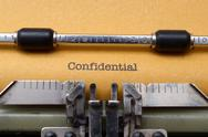 Stock Photo of confidential text on typewriter