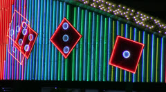 Animated neon dice marquee loop Stock Footage
