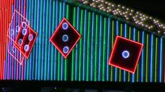 Animoitu neon noppaa Marquee silmukka Arkistovideo