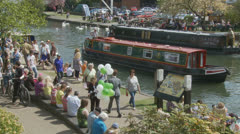 Bank holiday Monday, Newbury (2) UK Stock Footage